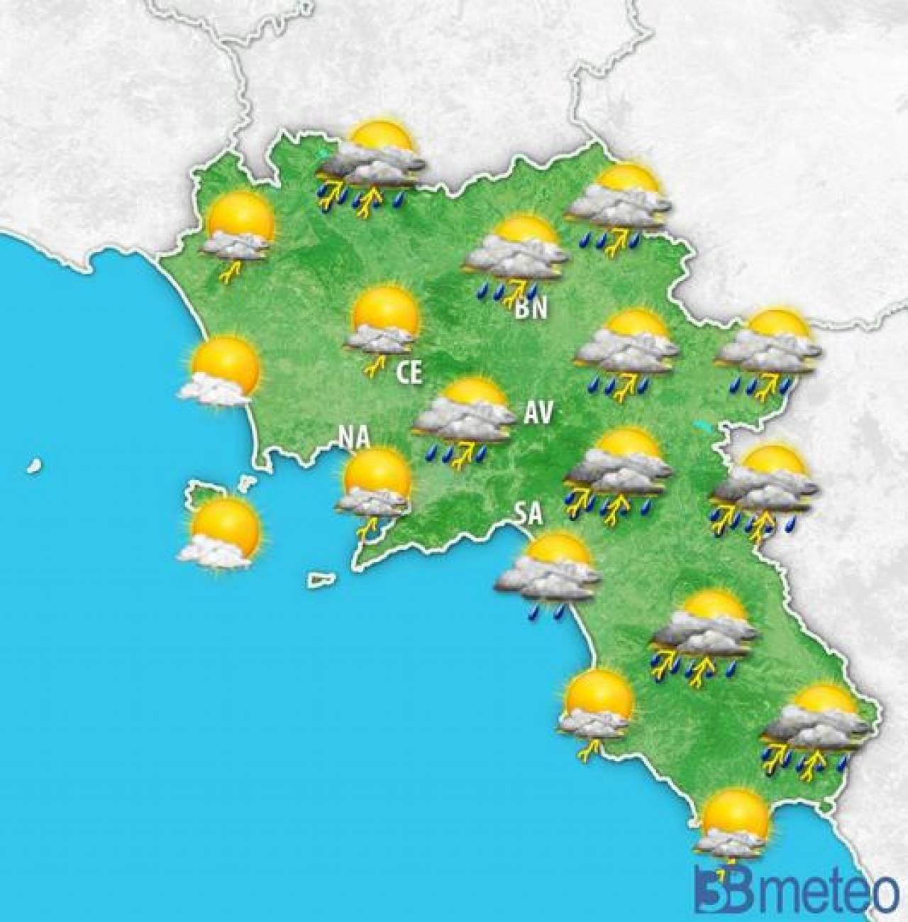 Meteo campania temporali fino a stasera a rischio anche napoli 3b meteo - Meteo bagno di romagna 15 giorni ...