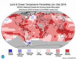 CLIMA mondo. NASA e NOAA: 2016 anno più CALDO di sempre