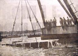 Il recupero del vaporetto affondato dall\'F4.