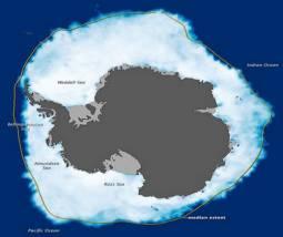 La situazione ai primi di Ottobre dei ghiacci antartici