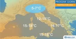 TEMPERATURE: freddo in Valpadana, clima mite in montagna