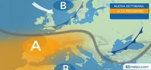 Anticiclone su mezza Europa fino a fine mese