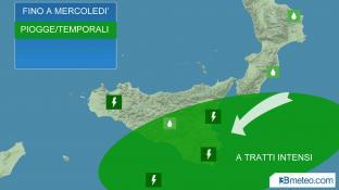 Meteo Italia mercoledì, ancora temporali all estremo Sud