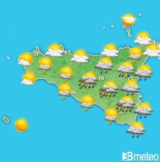 Meteo Sicilia, ancora temporali almeno sino a metà settimana