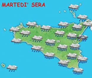 METEO SICILIA. MALTEMPO e piogge anche forti in settimana