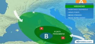 Weekend: nubifragi al Sud, Sardegna e Sicilia