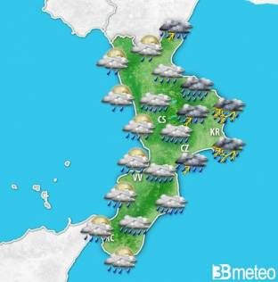 AVVISO METEO CALABRIA: forte maltempo, temporali e NUBIFRAGI