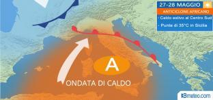 In arrivo la PRIMA ONDATA DI CALDO della stagione, punte di oltre 30°C