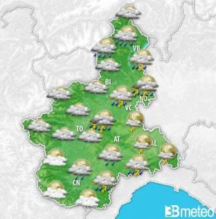 METEO PIEMONTE: Molto instabile e fresco con pioggia e temporali, meglio verso il weekend