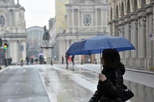 METEO TORINO: MALTEMPO IN ARRIVO, piogge anche intense, NEVE IN MONTAGNA