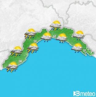 METEO LIGURIA: Ultime ore di sole. Da sabato notte prime PIOGGE e domenica TEMPORALI diffusi