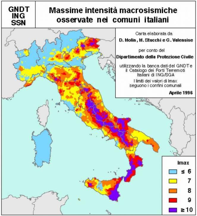 Terremoti ecco perch l 39 italia un paese a forte rischio for Rischio sismico in italia
