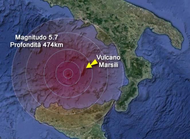 Fortissima Scossa Vicino al Mostro Marsili, Paura nel Sud Italia