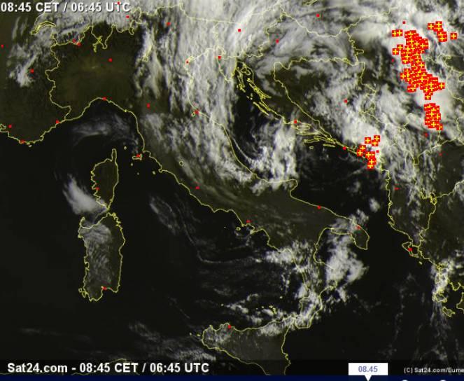 Satellite Weather Europe – Satellite in Diretta