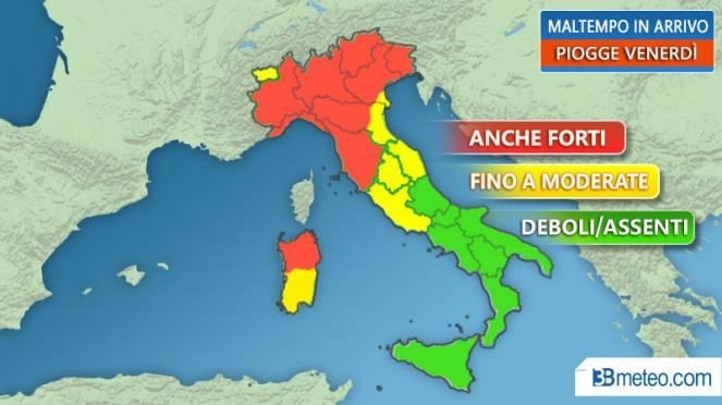 Toscana nord, attesi forti temporali e vento: codice arancione