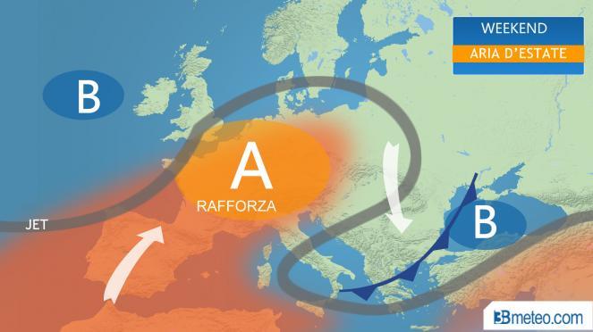 Fine settimana con bel tempo ovunque, qualche sporadica nuvolosità sulle zone adriatiche
