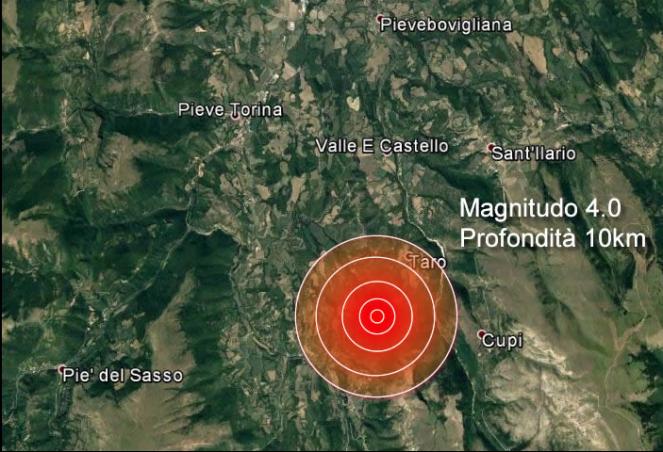 Terremoto, ennesima scossa di magnitudo 3.6 tra Marche e Umbria