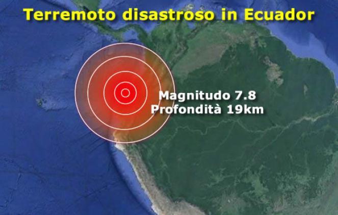 Terremoto in Ecuador, magnitudo 7,8: decine di morti
