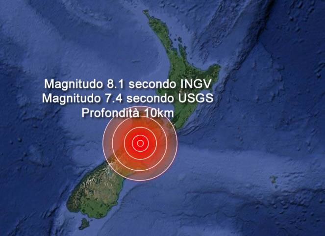 Fortissimo terremoto in Nuova Zelanda, allarme tsunami
