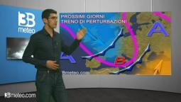 Via vai di perturbazioni sull'Italia, maltempo da Domenica