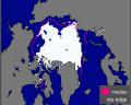 Immagine 1:Ghiacci marini artici verso la loro minor estensione stagionale