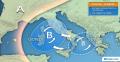 Immagine 1:Meteo Italia. Maltempo al Centrosud tra giovedì e venerdì per un vortice ciclonico in transito. Dettagli