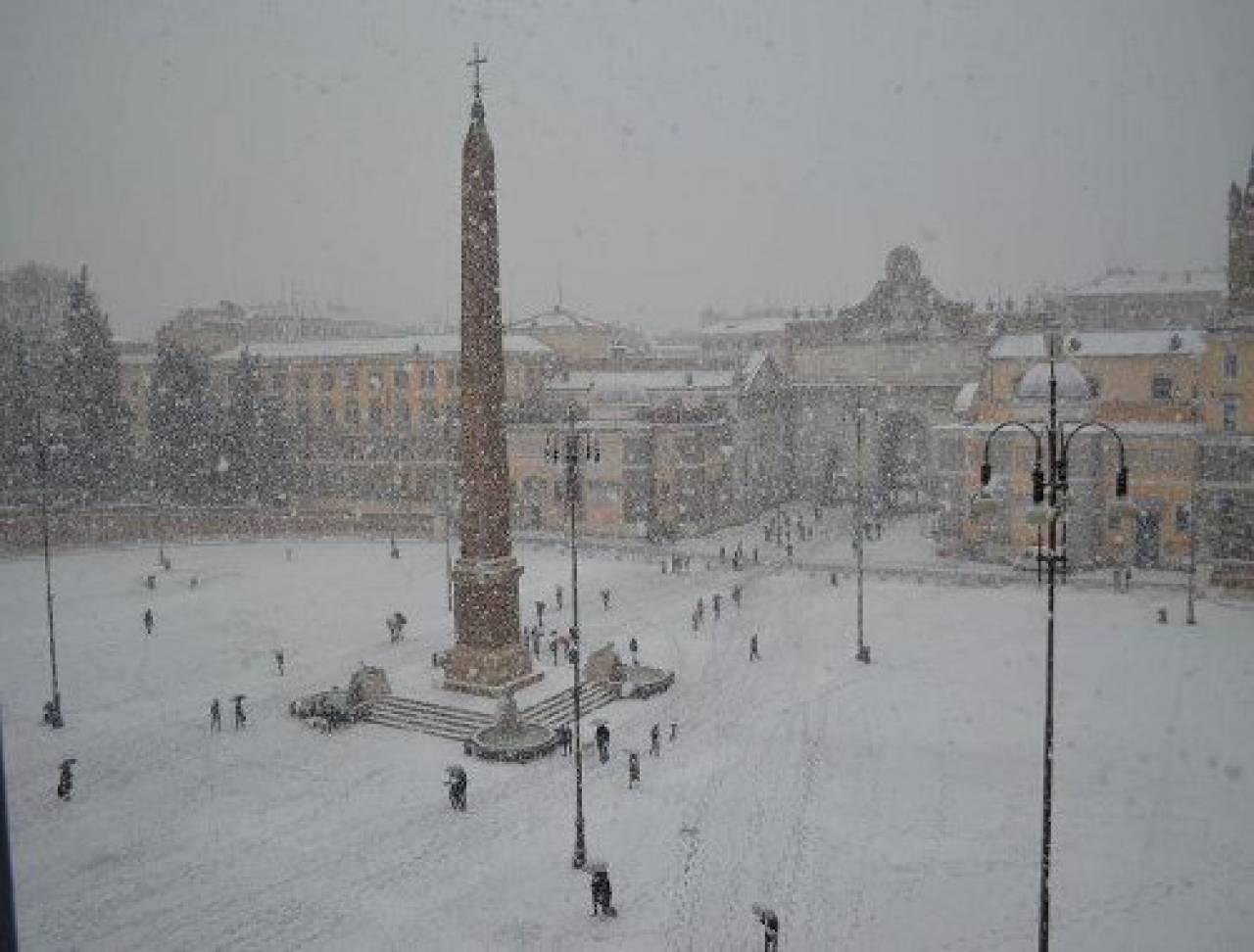 neve a roma meteo roma la nevicata prevista ora per