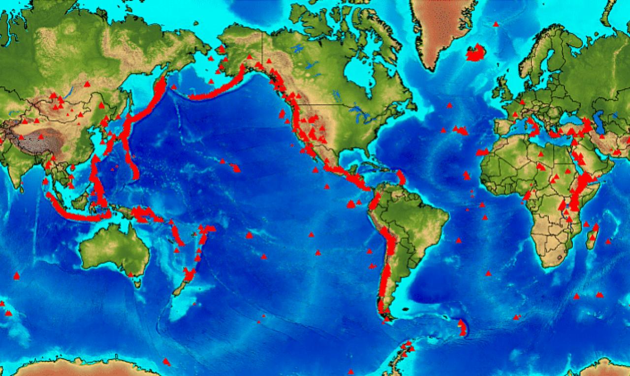 Cartina Vulcani Nel Mondo.I Vulcani Attivi Nel Mondo 3b Meteo