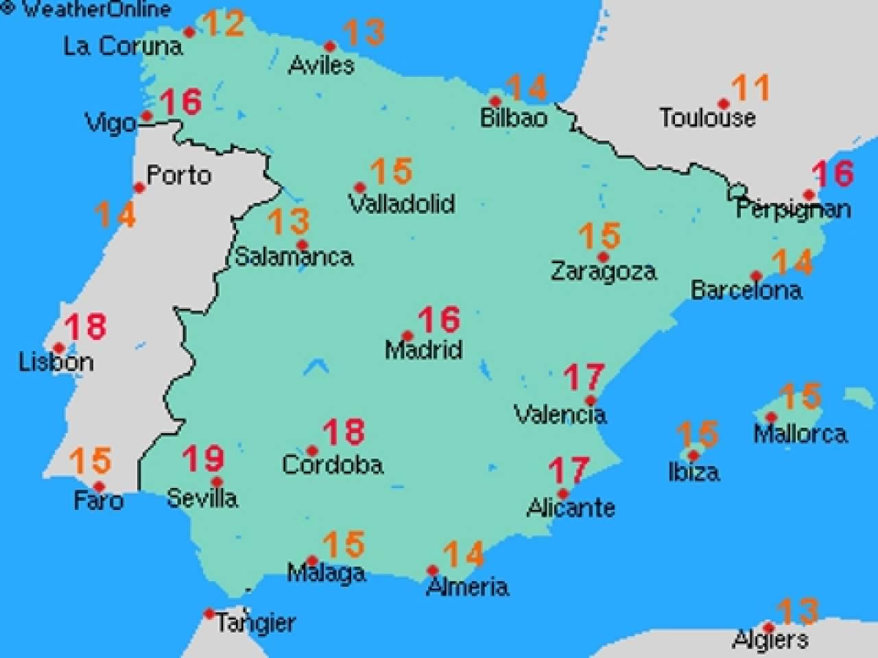 Spagna Ibiza Cartina Geografica.Previsioni Meteo Siviglia Spagna
