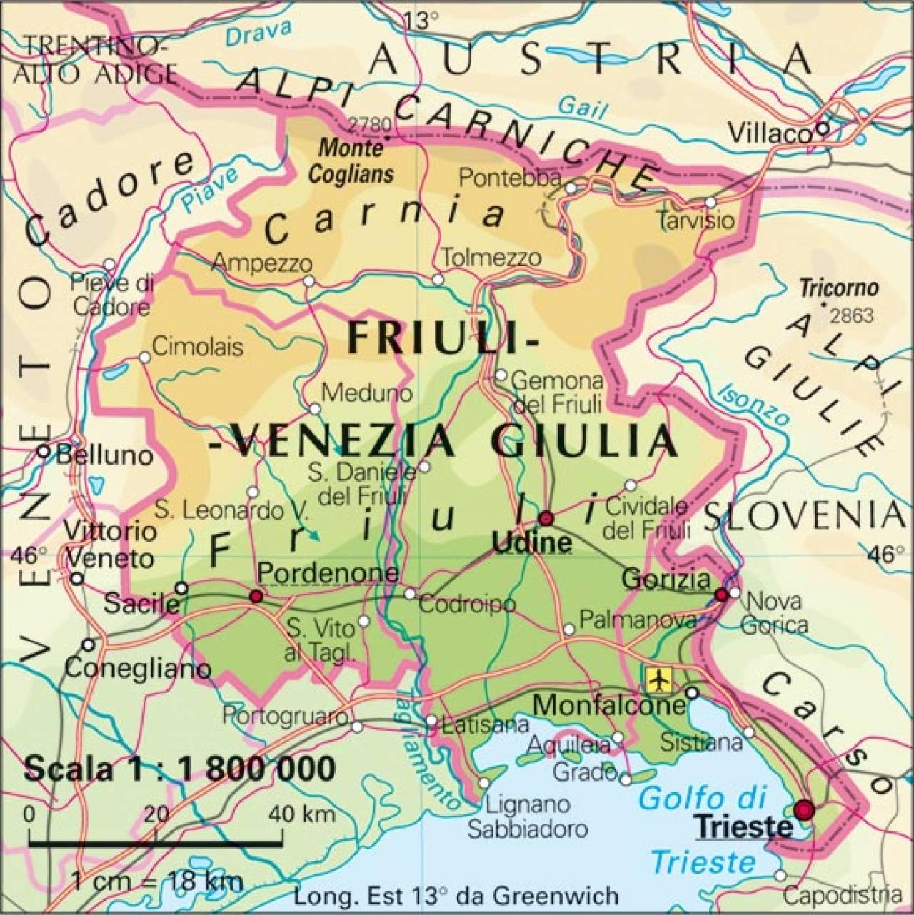 Meteo viaggi il clima del friuli venezia giulia a maggio for Progettazione giardini friuli venezia giulia
