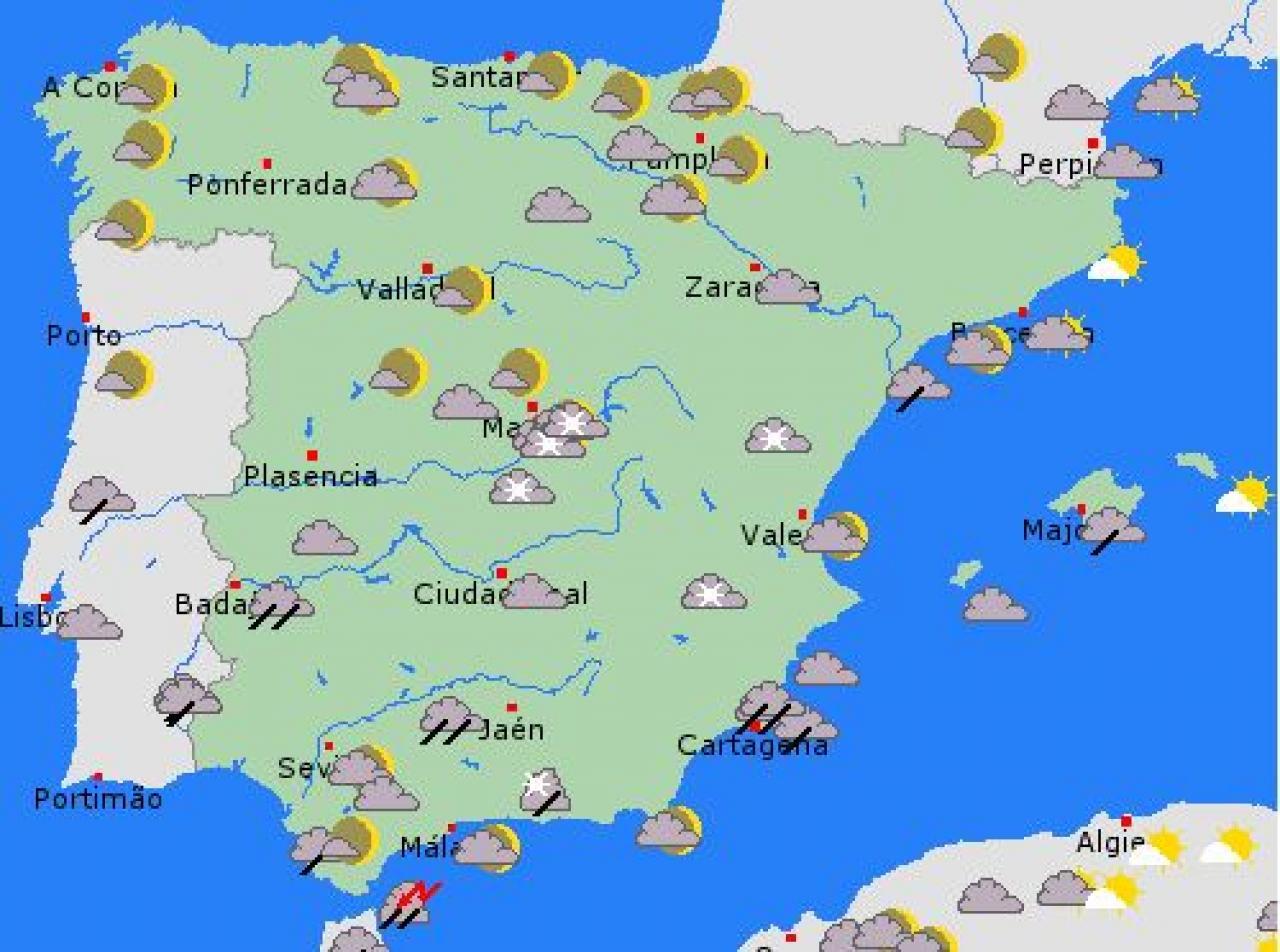 Cartina Meteo Spagna.Maltempo Sulla Spagna Fiocchi A Madrid E Granada Venti Tempestosi Sui Fiordi 3b Meteo