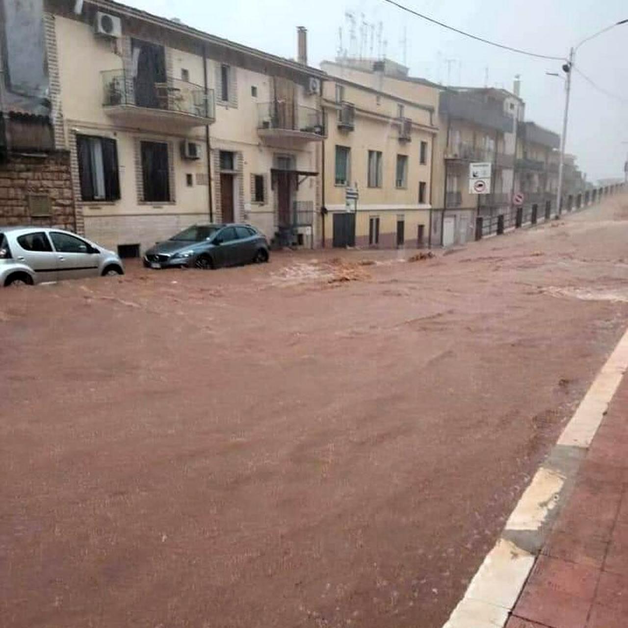 Allagamenti a San Marco in Lamis (Fonte Foggiatoday)
