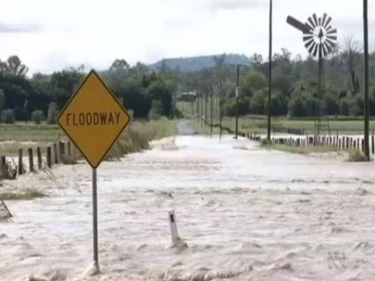 Alluvione in Australia in un'immagine di archivio