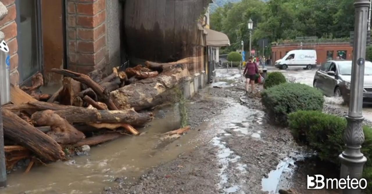 Alluvione nella sponda occidentale del lago di Como