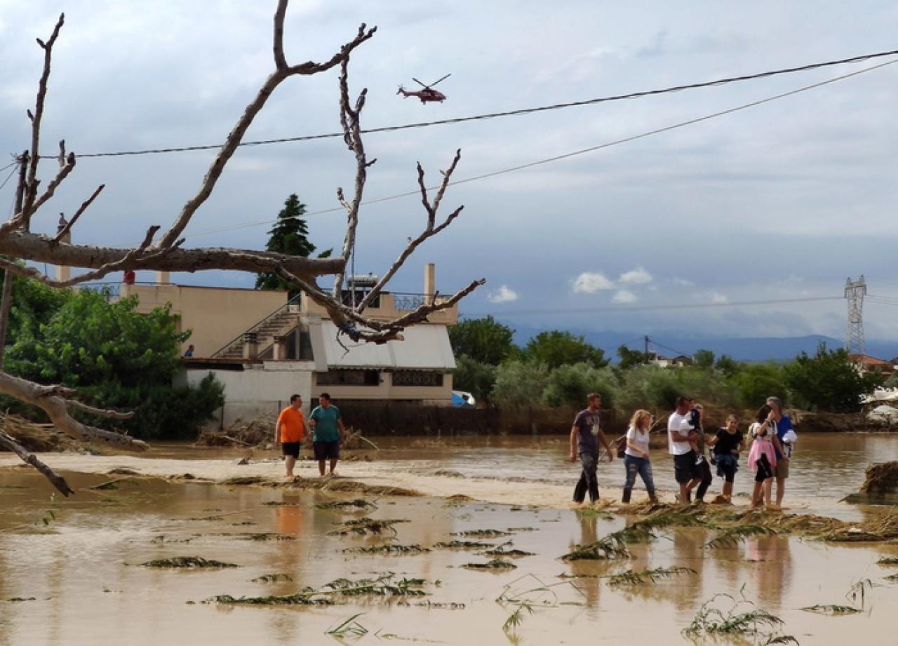 Alluvione sull'isola di Eubea, in Grecia (Fonte immagine: ANSA)