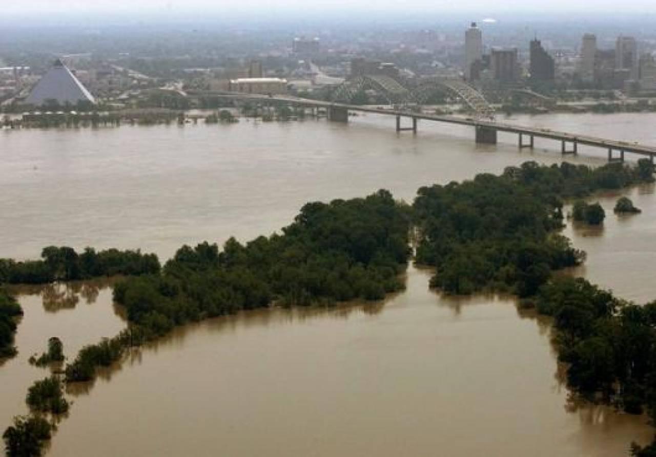 Alluvioni nel Mississippi in un'immagine di archivio