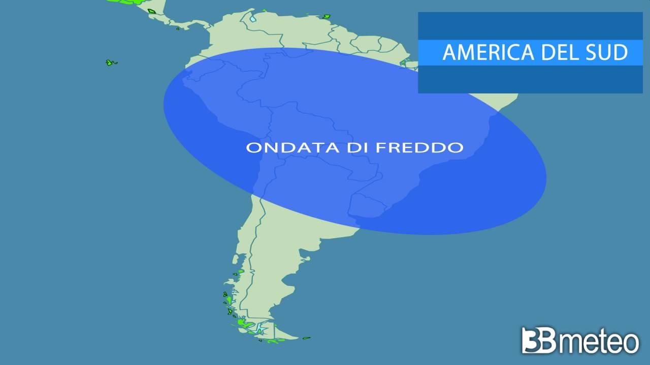 America del Sud, ondata di freddo