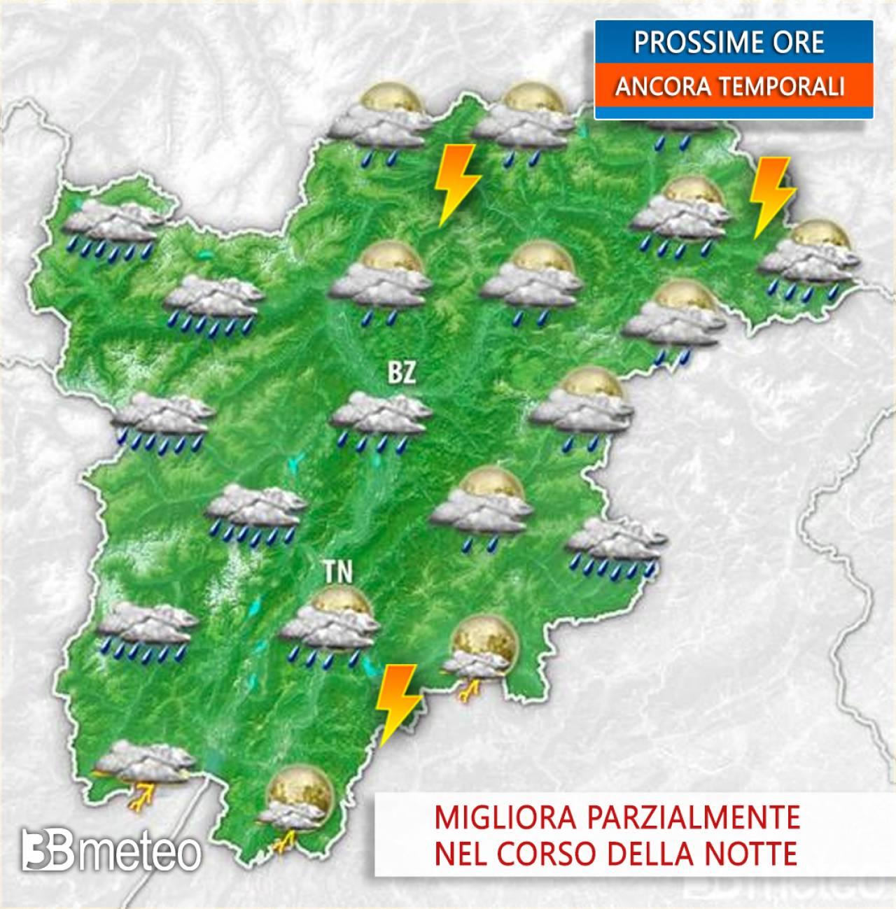 Ancora instabilità in Trentino Alto Adige