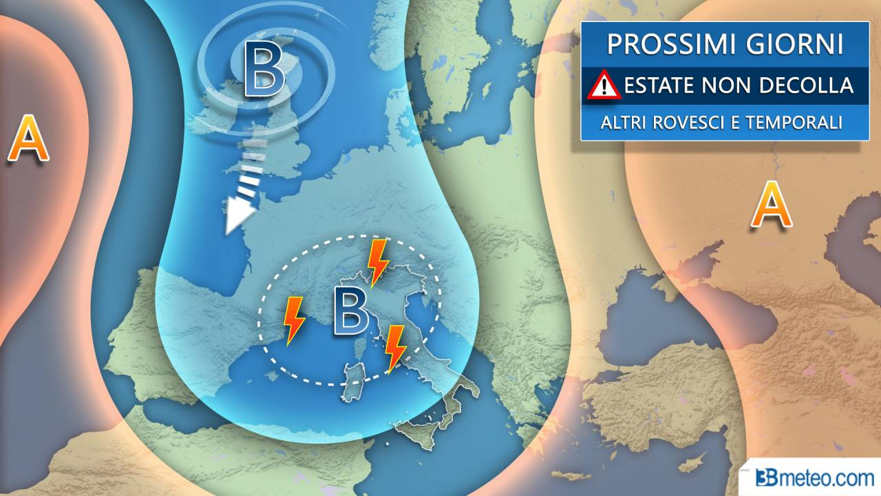 Ancora instabilità nei prossimi giorni su gran parte del Centro Nord Italia