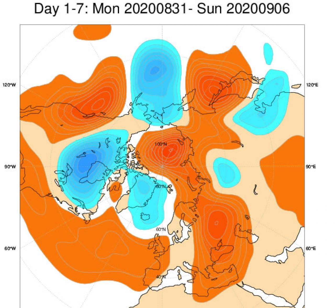 anomalie geop.500 hPa 31-6 settembre (fonte ecmwf)