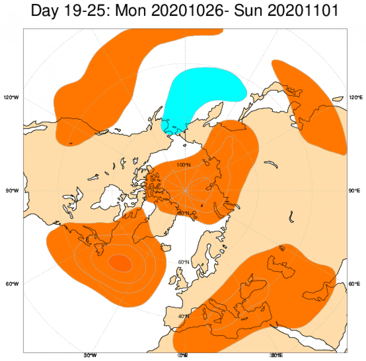 anomalie geopotenziale a 500 hpa 26-02 novembre secondo Ecmwf