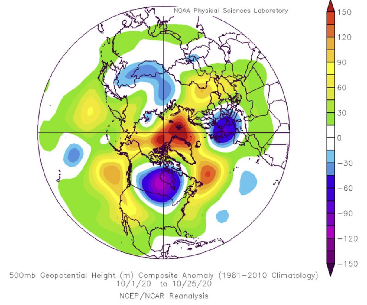 anomalie geopotenziale a 500 hPa