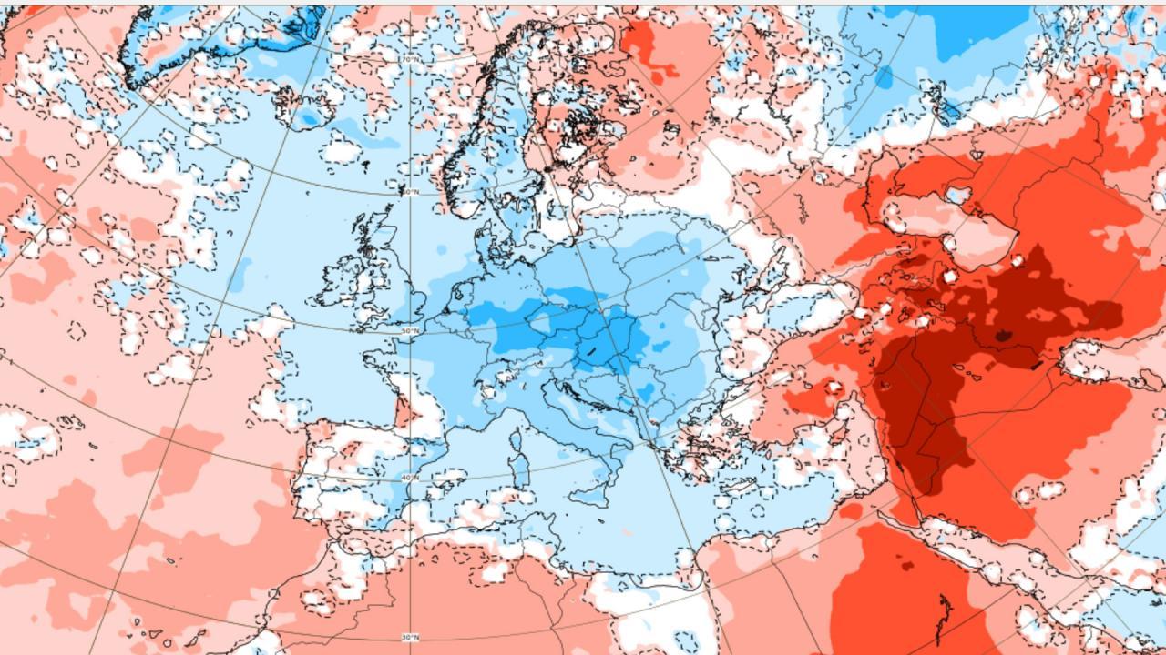 anomalie temperatura secondo Ecmwf
