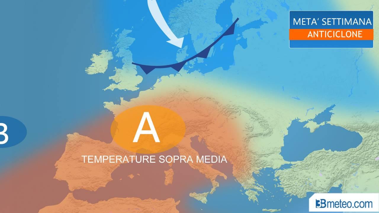 Meteo. Temperature in aumento con l'anticiclone ma sarà temporaneo. Ecco perchè