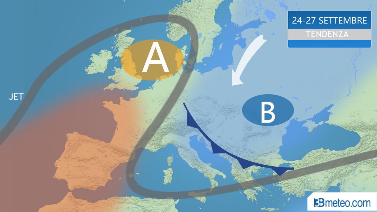 Meteo/Tendenza, l'anticiclone migra verso la Scandinavia: conseguenze in Italia