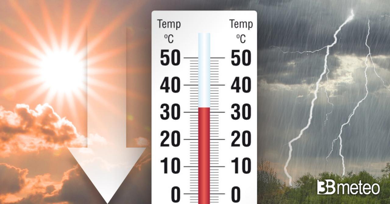 Apice del caldo, ma tra domenica e lunedì calo termico