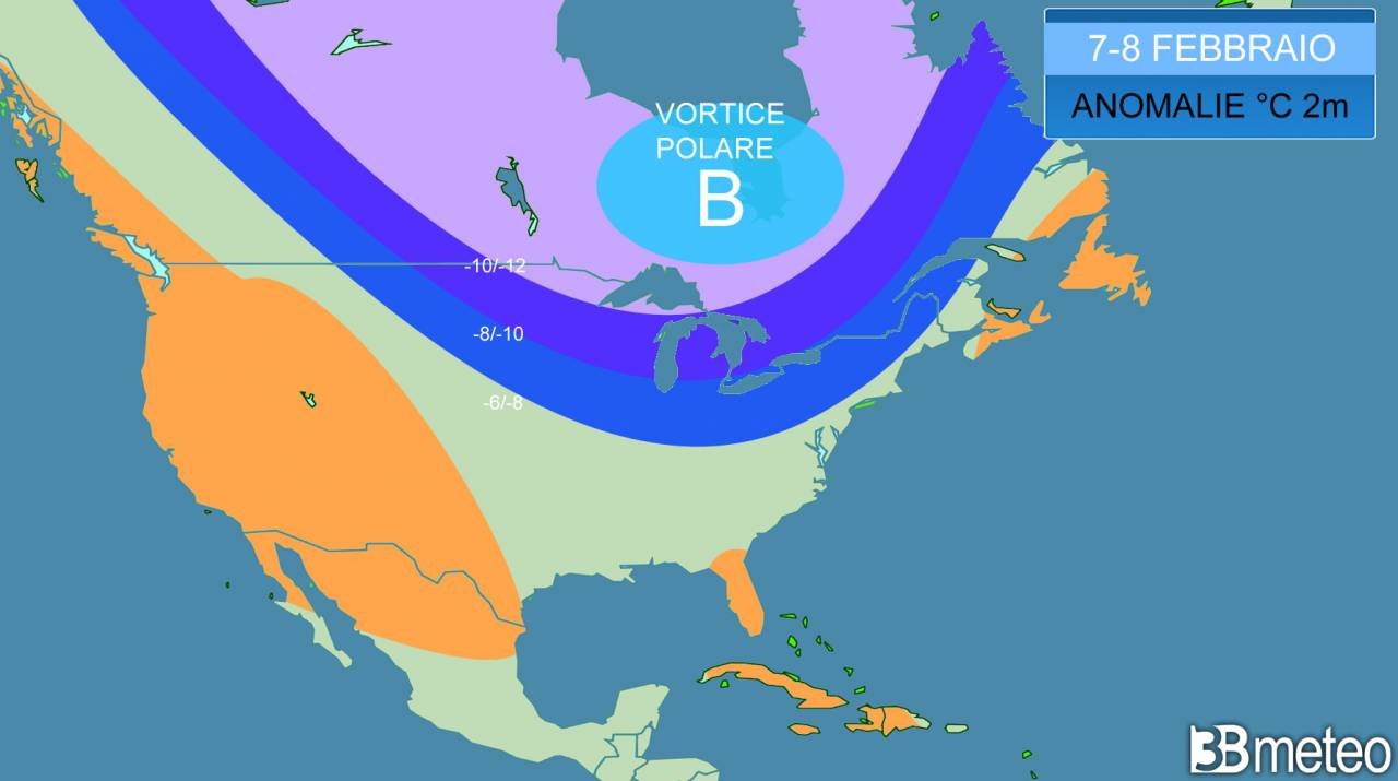 attesa una massiccia irruzione di aria gelida sul Nord America