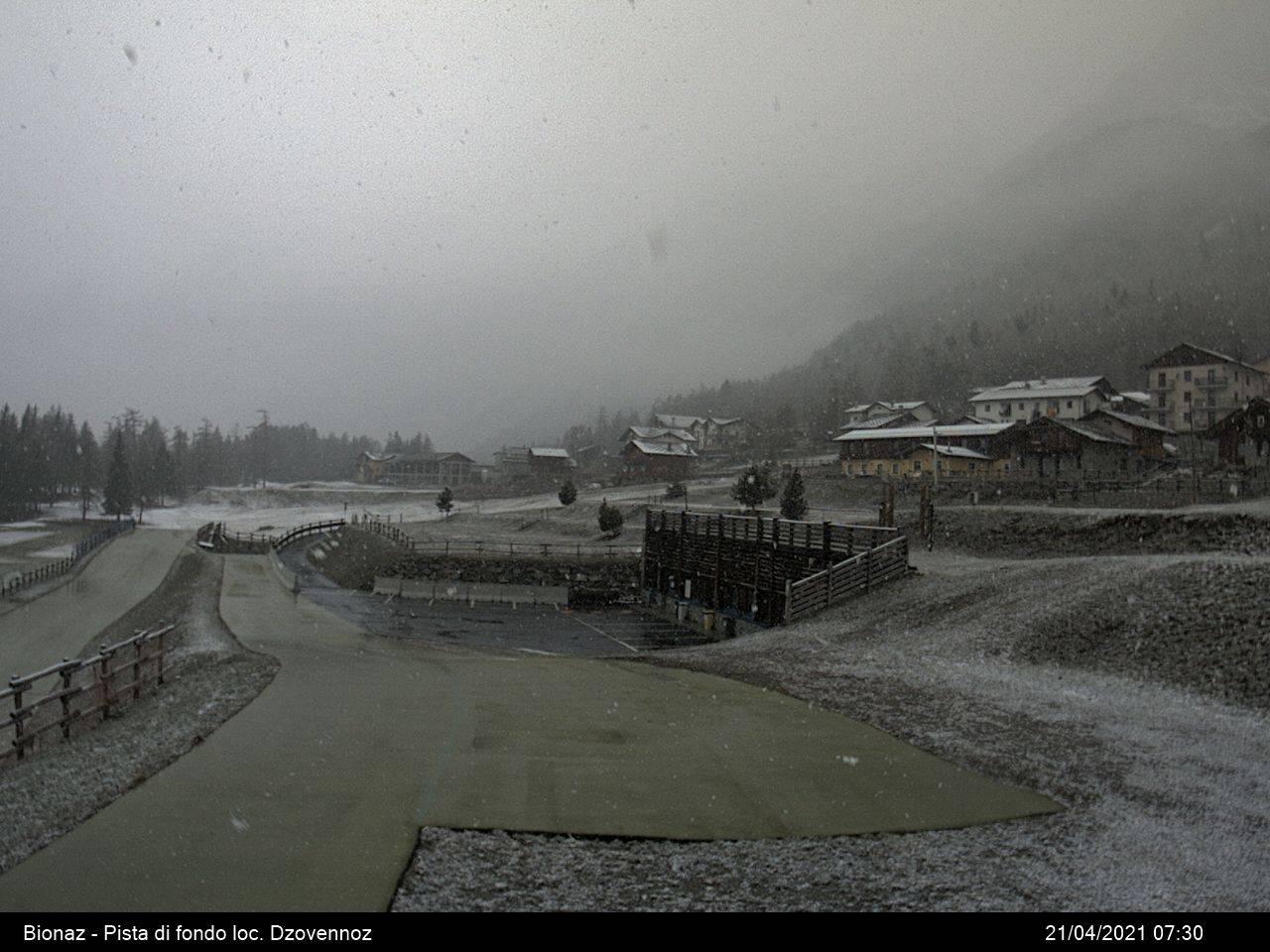 Bionaz (AO). Qualche nevicata sulle Alpi occidentali