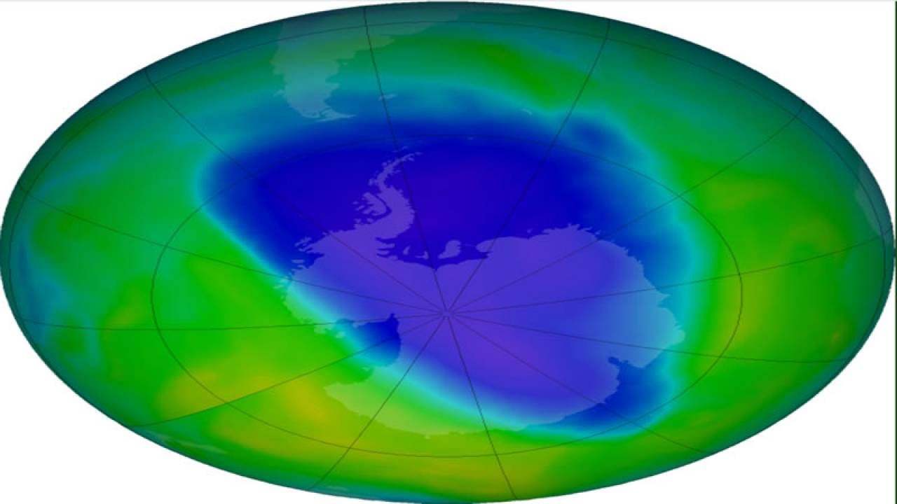 buco ozono antartico ancora abbastanza ampio (fonte Nasa)
