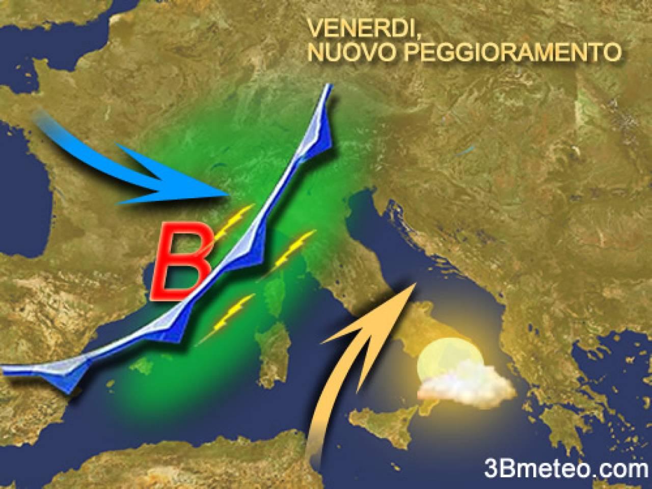 Fuori Salone Venerdi 15 Aprile : Nuovo peggioramento in arrivo sull italia maltempo